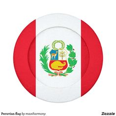 Peruvian flag pack of small button covers