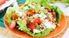 Pizza Salad: 1 cup of spinach, 1 cup of romaine, 1/2 cup of arugula, 1 tomato, 4 slices of dry Italian salami, 1 handful of basil, 1/2 cup mini-mozzarella balls, 3 tablespoons of olive oil, 1 teaspoon of minced garlic.  In a bowl, whisk together the minced garlic and olive oil, plus a little bit of salt and pepper.