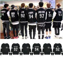 Kpop BTS BTS Jung Kook J - JIN espoir Jimin V Suga coton pulls molletonnés Outerwears(China (Mainland))
