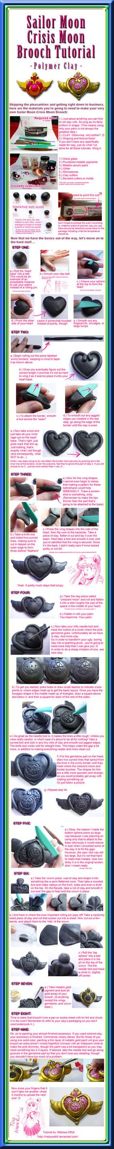 Sailor Moon Crisis Moon Brooch Tutorial by ~Melyssah6 on deviantART
