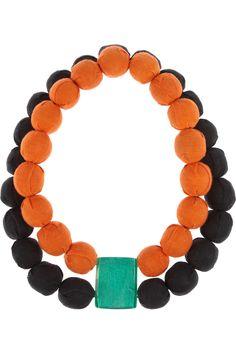 Marni Beaded double-strand necklace