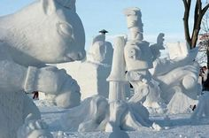 The 2008 snow sculpture competition was at the State Fairgrounds in Falcon Heights.    (Scott Takushi, Pioneer  Press)