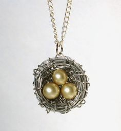 Bird's Nest Necklace by VelvetBarnacle on Etsy, £8.50