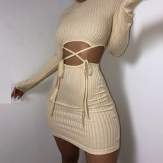 knit long sleeve khaki bodycon dress RK – loveitbabe Source by Dresses Sexy Outfits, Casual Outfits, Cute Outfits, Fashion Outfits, Cute Dresses, Short Dresses, Dresses With Sleeves, Wrap Dresses, Sweater Dresses