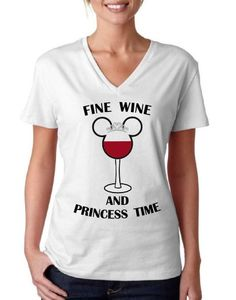 V NECK** Fine Wine and Princess Time- funny going to Disneyland Disney World shirt // Food and Wine festival // Minnie Mickey Mouse by BrandByYou on Etsy https://www.etsy.com/listing/275612852/v-neck-fine-wine-and-princess-time-funny