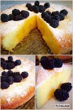 Zitronen Kuchen mit Brombeeren