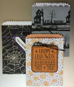 Stampin' Up! Mini Treat Bag Thinlits with Halloween Night Speciality Designer Series Paper