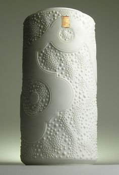 AK Kaiser W. Germany Modernistic Mid 20 Century Vintage Retro White Bisque Vase
