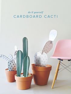 We are still in a cactus mood! Check out our cardboard cactus DIY- a great addition to our growing cactus collection