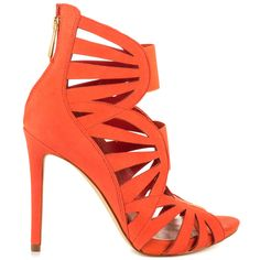 Guess orange strappy heel | Wedding Style Inspiration by Marigold Paper