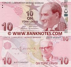 Turkey 10 Lira 2009 Obverse: Effigy of President Mustafa Kemal Atatürk The crescent moon and star from Turkish flag. Reverse: Portrait of Istanbul, Turkish Lira, Saving For Retirement, Effigy, Computer Technology, Presidents, Turkey, Coins, Banknote