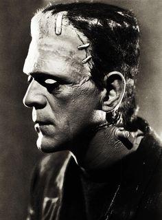 Photo of Boris Karloff as FRANKENSTEIN'S monster. (Please follow minkshmink on pinterest)