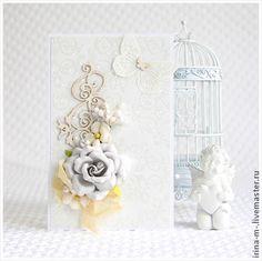 Свадебные открытки ручной работы. Ярмарка Мастеров - ручная работа Открытка свадебная. Handmade.