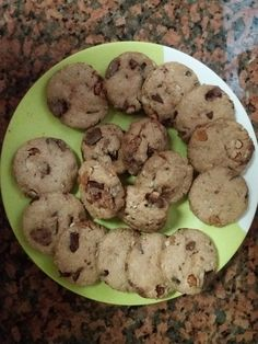 Oats chocolate nuts cookies