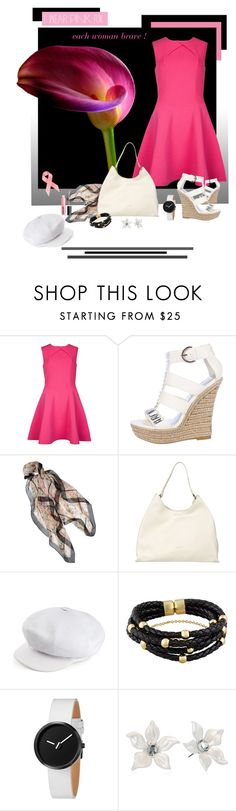 """""""I wear pink for ..."""" by lamipaz ❤ liked on Polyvore featuring Ted Baker, H by Halston, The Bridge, kangol, Tarina Tarantino, H&M and IWearPinkFor"""