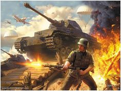 German Blitzkrieg! Aggressive German soldiers and lots of tanks!