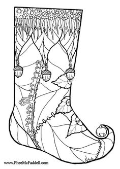 Beautiful Christmas Stocking Coloring Page For Adults 1 - Chirstmas Stocking Coloring Pages Collection Coloring Pages Winter, Santa Coloring Pages, Cat Coloring Page, Free Coloring Sheets, Adult Coloring Book Pages, Christmas Coloring Pages, Colouring Pages, Printable Coloring Pages, Coloring Books