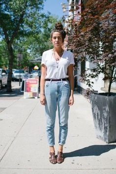 Simple and Classic - Jeans and a White T-Shirt