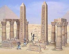 EGYPTIAN TEMPLE ENTRANCE KIT HIRST ARTS 28MM