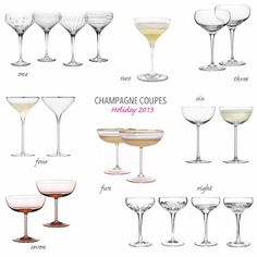 A Bar Cart in Brooklyn | Champagne Coupe Glasses