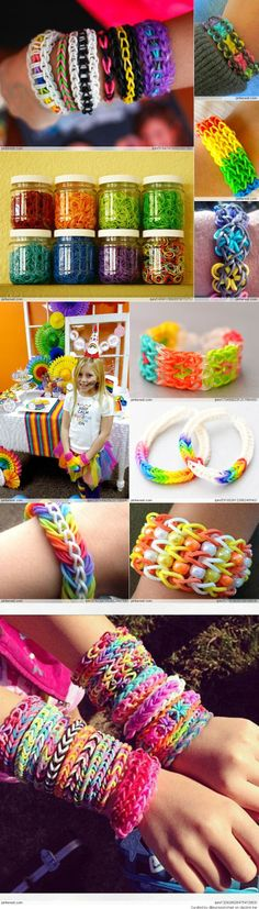 Amazing Rainbow Loom Ideas for Talia and Jalynn Rainbow Loom Party, Rainbow Loom Bands, Rainbow Loom Bracelets, Rainbow Loom Tutorials, Rainbow Loom Patterns, Rainbow Loom Creations, Fun Crafts, Diy And Crafts, Crafts For Kids