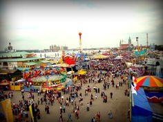 Oktoberfest 2009.  View from the ferris wheel.  Munich, Germany