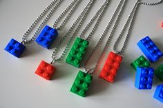 Lego Party Favor - Loot Bag Set of 6. via Etsy.