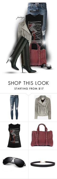 """""""The Material Girl"""" by rockreborn ❤ liked on Polyvore featuring Frame Denim, IRO, Miss Selfridge, Alexander Wang, Gianvito Rossi and Humble Chic"""
