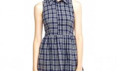 Plaid Print Pleated Shirtdress As Casual And Formal Dress Front