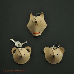 animal key chain #diy #cat #bear
