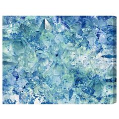 "Found it at Wayfair - ""Blue Crystals"" by Artana Painting Print on Wrapped Canvas"