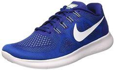Nike Free Run 2017, Zapatillas de Entrenamiento para Hombre, Azul (Deep Royal Blue/White-Soar-Ghost Green), 43 EU