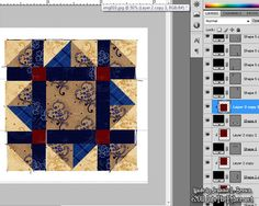 Tutorial on Designing Quilt Blocks in Photoshop intotheether