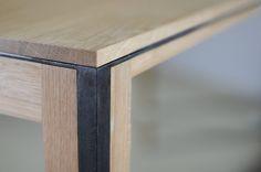 Table design en chêne massif et métal | La Manufacture Nouvelle
