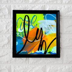 Technique: Acrylic below a sheet of acrylic Dimensions: 12 x 12 cm Abstract Expressionism, Abstract Art, Acrylic Sheets, Cursive, Art Studios, Graphic Art, Innovation, Original Art, Texture