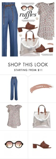 """""""What a Frill: Ruffles"""" by bowdoo ❤ liked on Polyvore featuring KOCCA, Topshop, Manila Grace, Italia Independent, Tod's, Poppy Finch, ruffles and RuffLyfe"""