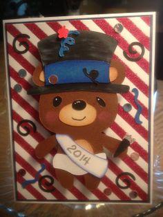 Scrap-n-Sew Granny: Teddy Bear Parade Series- #2 New Years Bear