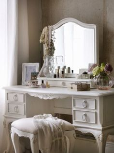 There is something about and antique vanity