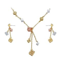 Item Type:Jewelry SetsIncluded Additional Item Description:earrings necklaceJewelry Sets Type:Necklace/EarringsNecklace Length of package:Velvet bagEarrings Chain Necklaces, Cubes, Earring Set, Jewelry Sets, Dangle Earrings, Dangles, Fashion Jewelry, Rose Gold, Silver