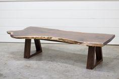 Live-edge Walnut Coffee Table