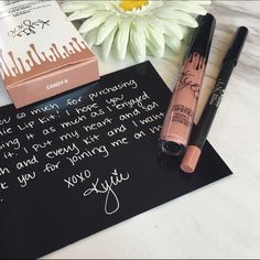 Candy k Kylie LipKits Contains: 1 Matte Liquid Lipstick (0.11 fl oz./oz. liq / 3.25 ml) and 1 Pencil Lip Liner (net wt./ poids net  .03 oz/ 1.0g). Candy  K is a soft, warm nude. NEVER OPENED (not even from the box) Price is firm. No trades. Kylie Cosmetics Makeup Lipstick