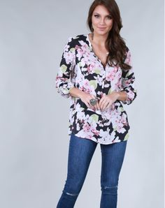 CAMISA VISCOSE FLORITAS  CMML0694  MarketFashion