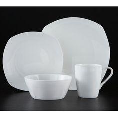 Roscher 32-pc. Kelsey Soft Square Bone China Dinnerware Set - Costco.ca