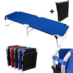 Magshion* Portable Military Fold Up Camping Bed Cot   Free Storage Bag- 5 Colors ** Want to know more, click on the image.