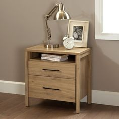 South Shore Gravity 2 Drawer Nightstand | from hayneedle.com