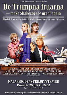 """Den 29 Juli 2017 var det premiärföreställning av """"De trumpna fruarna"""", som spelades på Mälarhöjdens Friluftsteater! Alla Luks & med övriga skådespelare, ni bidrog samtliga till en h…"""