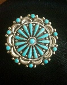Vintage Turquoise F.M. Begay Navajo Pin/Pendant #FMBegayNAVAJO