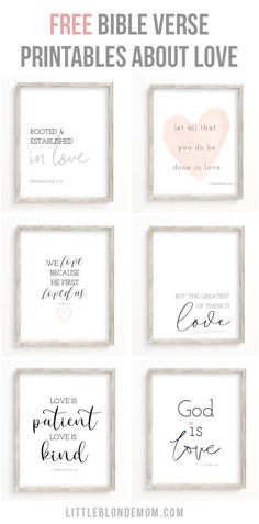 *FREE* Bible Verse Printables about Love - Just in time for Valentine's Day! Printable Decor is so easy & budget friendly! Free Printable Quotes, Printable Bible Verses, Printable Wall Art, Free Printables, Printable Pictures, Bible Verse Wall Art, Wall Art Quotes, Scripture Doodle, Bible Verse Signs