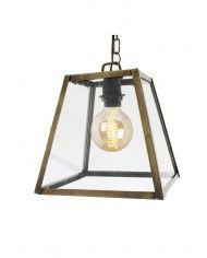 Lampe jern/glass ,25 CM, SORT ELLER MESSING - Hyttefeber.no