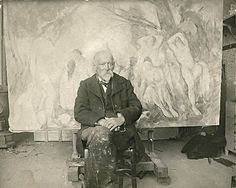 Paul Cezanne in his studio, 1904.